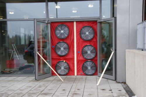 Blower-Door-Messung