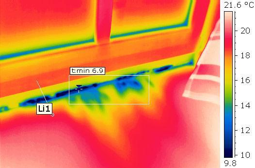 Thermografie in Verbindung mit Blower-Door-Messung